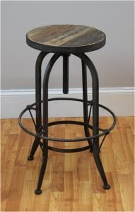 Lovely Wooden and Iron Country Style Saloon Barstool Bar Stool Wood Hand Wrought