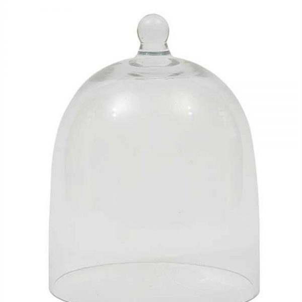 Clear Glass Dome Cloche Hand Blown Display Art Dust Cover with Ball Top