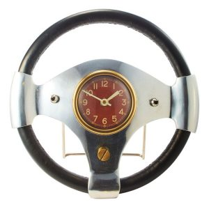 Speed Racer Vintage Style Automobile Wall Clock British Race Car Steering Wheel