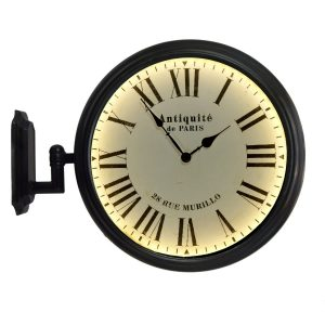 Paris France Train Station Wall Mount Lighted Face Clock Old Style