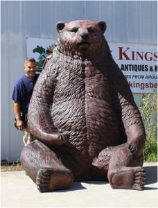 Huge Giant Brown Grizzly Bear Statue w Two Seats for Photo, Instagram, Business Display, or Home