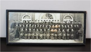 Old Photo of Frenchtown New Jersey High School, now Elementary, Dated 1948 in Old Frame