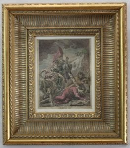 Stations of The Cross 18th Century Print Watercolor Washed Jesus Christian Art