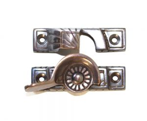 Victorian Window Sash Lock in AGED Heaviest Old Style Restoration Hardware Latch