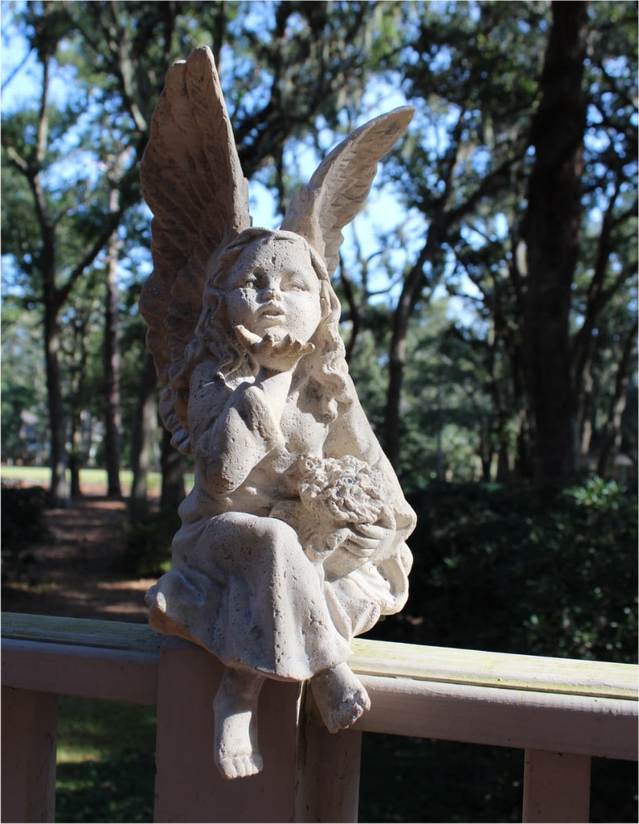 Fairy Garden Statue: Pixie Fairy Statue Made Of Faux Marble Garden Or Home