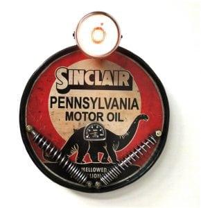 Sinclair Motor Oil Company Dinosaur Head Motorcycle Head Light Sign