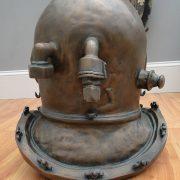 Antique Bronze Finish Old Style Mark V Diver's Helmet Faux Brass Metal