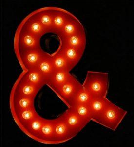 Antique Tin Letter Sign Old Store Paint Ampersand & Retro Designer Sale Item!