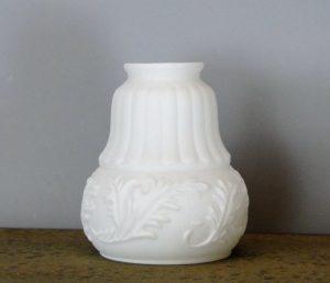 Victorian Satin Milk Glass Shade 2 1/4″ Fitter Lighting Part New