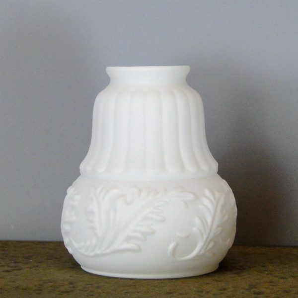 Victorian Satin Milk Glass Shade 2 1/4″ Fitter Lighting Part New