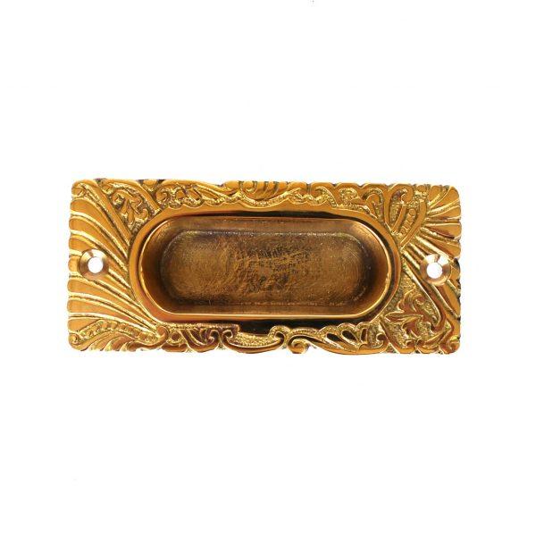 Victorian Antique Replica Window Sash Finger Lift in Cast Solid Brass