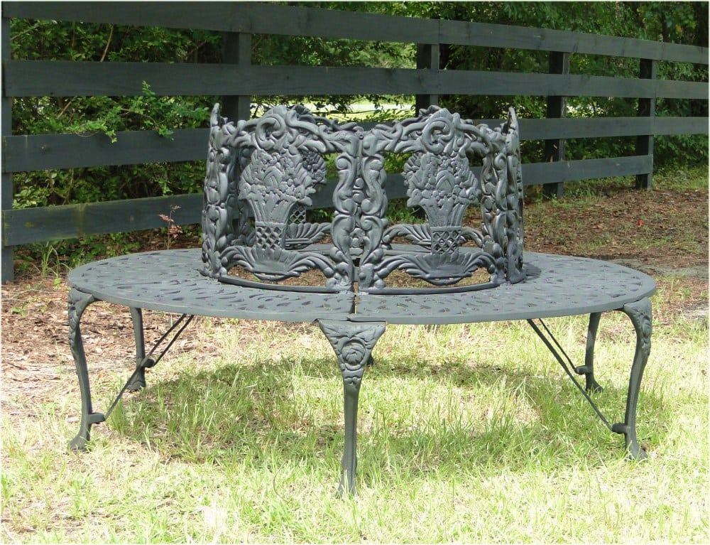 Victorian Tree Surround Vintage Replica Garden Furniture Old Style Outdoor Bench The Kings Bay