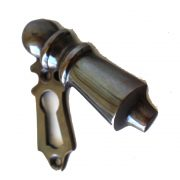 DARKENED Brass Key Hole with Swivel Key Hole Cover, Lovely Design