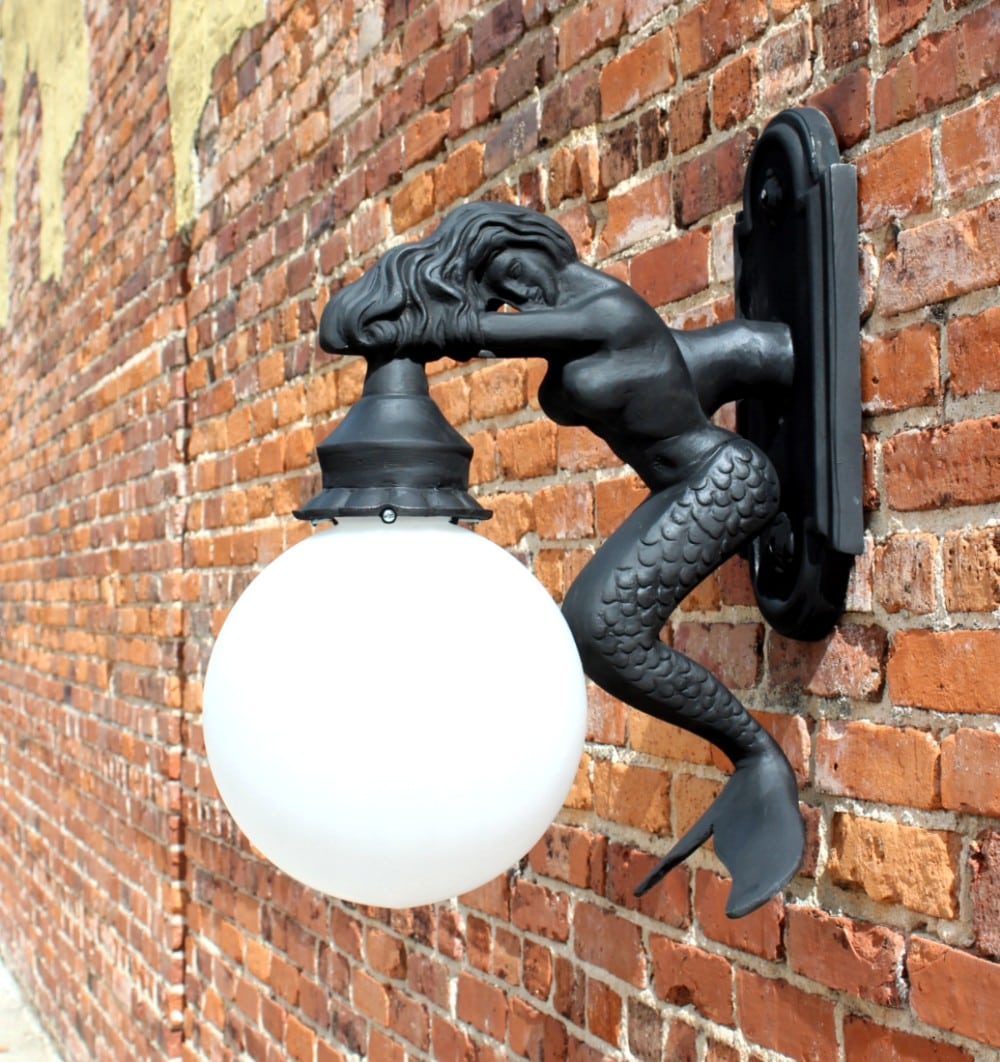 Beach Lighting Products: Outdoor Wall Light Sconce Fixture Antique Styl MERMAID