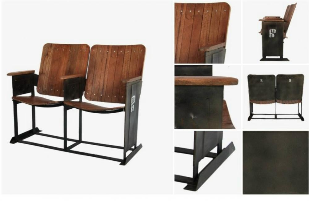 Classic Man Cave Furniture : Vintage movie theater seats for home man cave old replica