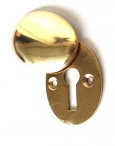 Oval Swivel Vintage Style Cast Brass Key Hole Cover Cabinet and Door Hardware