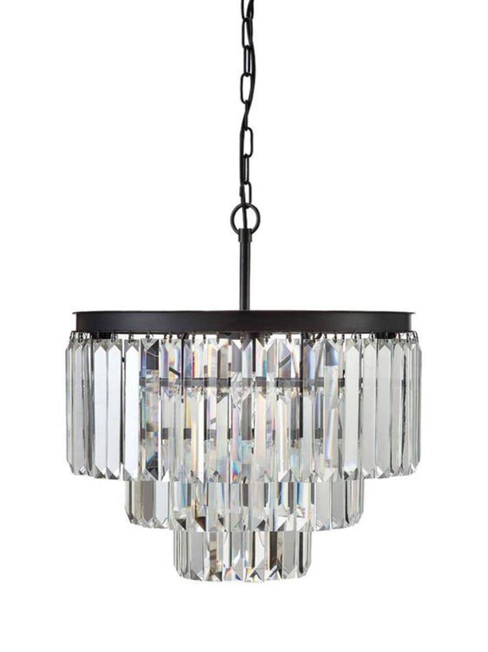 antique mount prism justina black flush in glass chandelier crystal pin