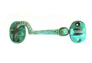 Cabin Latch Hook Solid Brass Tiffany Green Finish Hardware Vintage Restoration Replica 4.5″