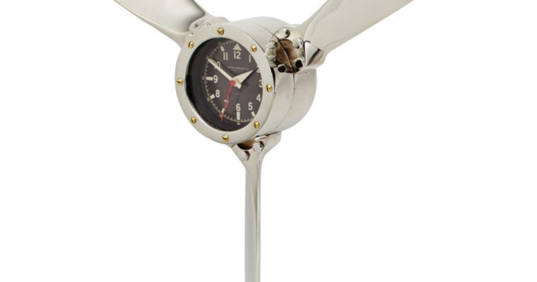 """Air Plane Propeller Wall Clock """"The Aviator"""" Old Style Decor"""