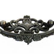 Aged Crown Old Cabinet Hardware Replica Dresser Pull Oak Vintage Bronze Finish