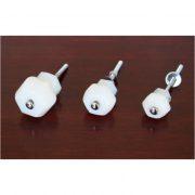 1″ Milk Glass WHITE Glass Cabinet Knobs Pulls Vintage Dresser Drawer Hardware 10 pcs