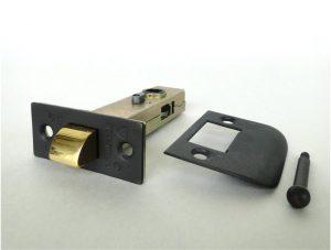 Darkened Bronze Latch Set Door Hardware 2 3/8″ Backset Solid Brass Face Plate