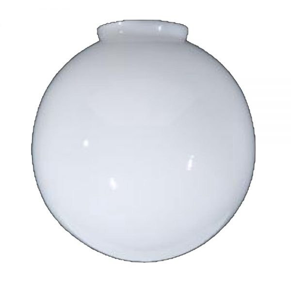 Opal White Glass Globe Ball Shade 12″ diameter and 4″ fitter Replacement or New