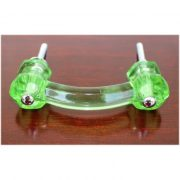 Antique Light GREEN Glass Pull for Cabinet Hardware Dressers Knob 3″ Centers 25 pcs