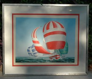 Pete Peterson Running w the Wind Sailing Art PROOF LISTED Artist RARE