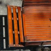 Old Wood Toy Truck with Rubber Tires & Model T Doors Spoke Display Ford Chevy 27″