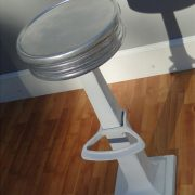 Candy Counter Bar Stool Seating w Foot Rest Aluminum HOT Man Cave Diner 1950's