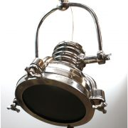 Ceiling Mounted Adjustable RIBBED Movie Spot Light 2nd, Silver FInish