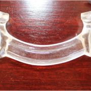 Antique CLEAR Glass Pull for Cabinet Hardware Dressers Knob 3″ Centers