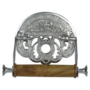 The Crown Toilet Fixture English Old Style CHROME Wall Mount Toilet Paper Holder