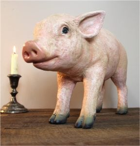 Pink Piglet Pig Statue so Very Cute Kitchen Restaurant Country Style
