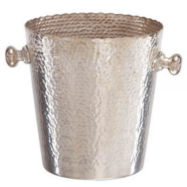Ice Bucket Hammered Finish Wine Cooler for Home Bar Kitchen Serving