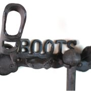 Equestrian BOOT RACK Cast Iron Tack for Horse Barn Home Boots Wall Mounted Old Style
