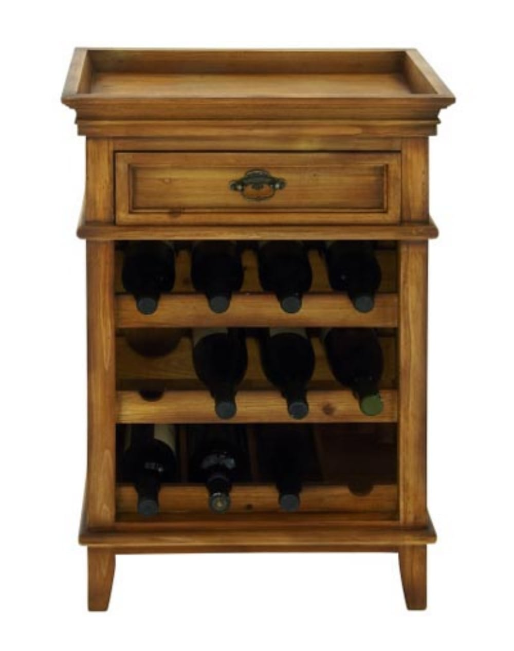 Wood end or side table wine rack for home bar furniture for Tabletop wine rack plans