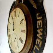 Antique Replica Jewelry Pocket Watch & Clock Historic Wall Advertising Old Style