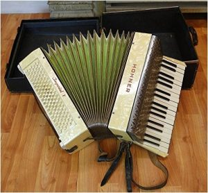 Hohner Imperial V Vintage Accordian With Case accordion with Case