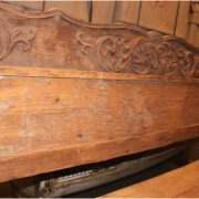 Big Wooden Boat Bench Antique Seating with Old Paint from Indonesia Pacific Seas