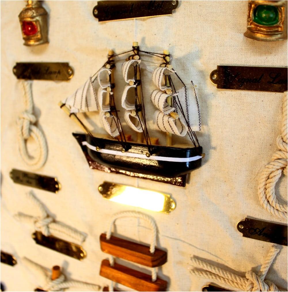 Sailors Nautical Wall Knot Chart Scroll Sailboats Pulleys Anchor ...