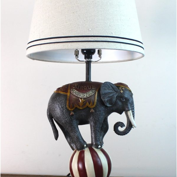 French Magnificent Circus Elephant Table Lamp Antique Style