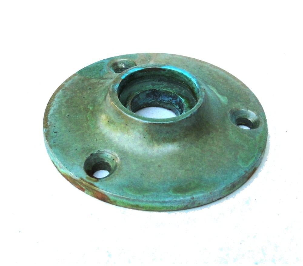 Small Door Rosette Tiffany Green Br Aged Finish Hardware Renovators Supply