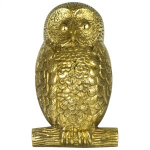 OWL Solid Brass Door Knocker Hoot