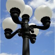 Outdoor 5 Arm Pole Light 9.5′ Tall Victorian Replica Vintage Commercial or Home