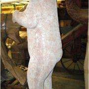 Standing Polar Bear Life Size Statue White Alaska Wilderness Sculpture