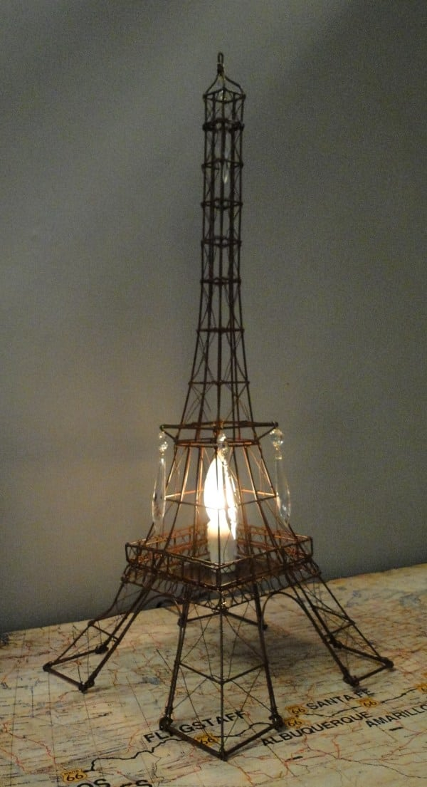 Magnificent Eiffel Tower Night Light Wire Metal French With Crystals Hand Wiring Database Obenzyuccorg