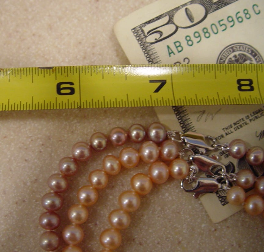 """Genuine Pink Pearl Necklace, 48"""" 7mm Real Jewelry at ..."""