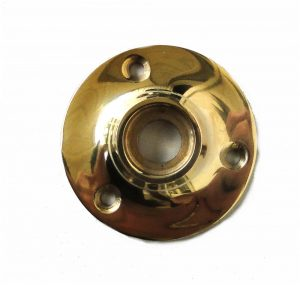 Small Door Rosette Solid Brass for Porcelain Iron Base Knobs Renovation Hardware